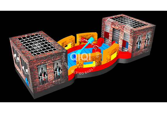 Underground Wrestle inflatable boxing ring