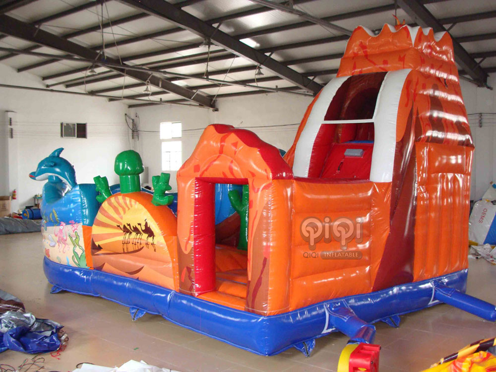 Volcano and Ocean Inflatable Playground