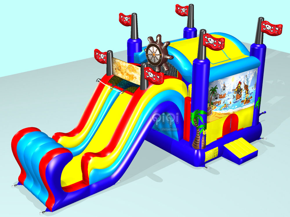 5 In 1 Pirate Bouncy Castle Combo