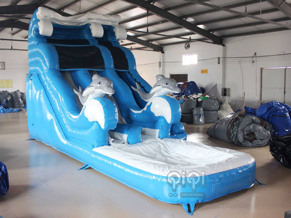 Blue Dolphin inflatable water slide