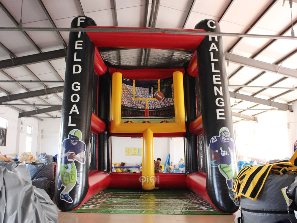 Inflatable field goal challenge