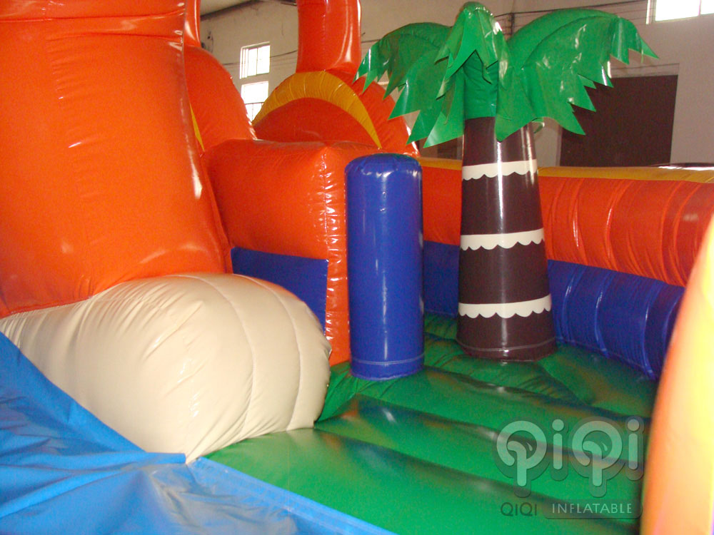 Lion Inflatable Playground Slide