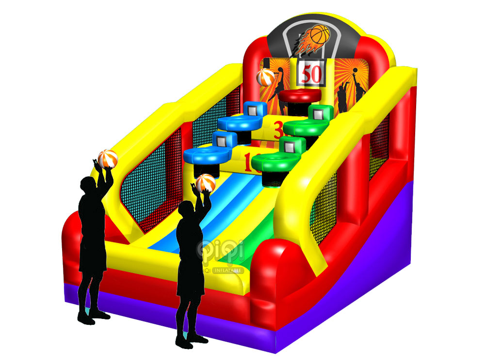 Double Hoop Inflatable Basketball Game