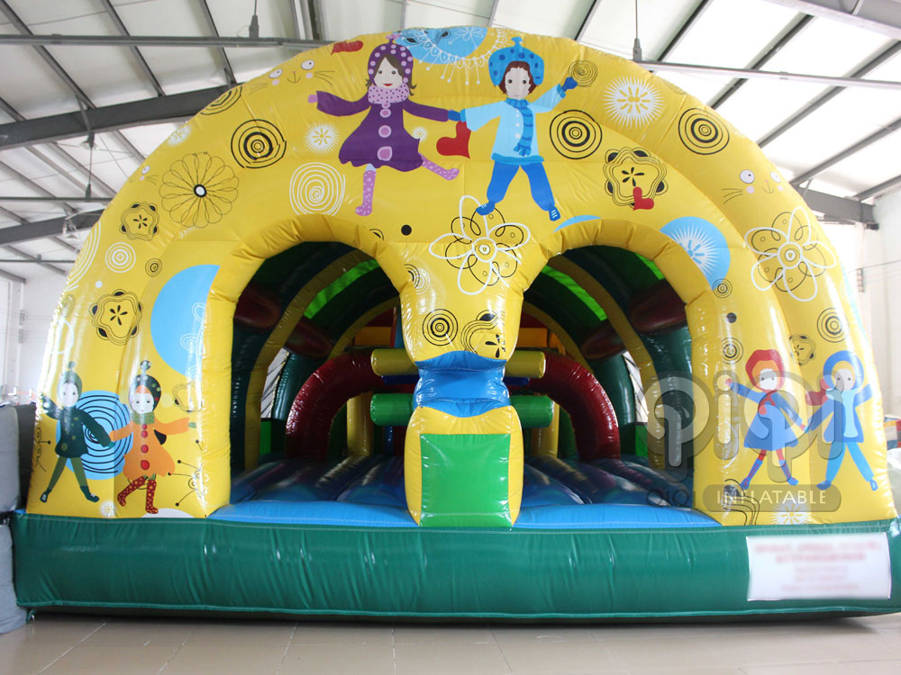 Hand In Hand Inflatable Obstacle Game