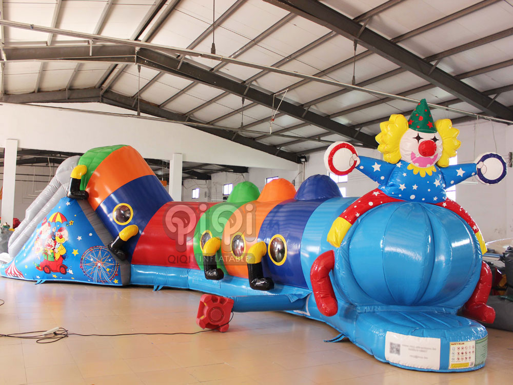 46ft Inflatable Clown Tunnel-QTU-2880-1