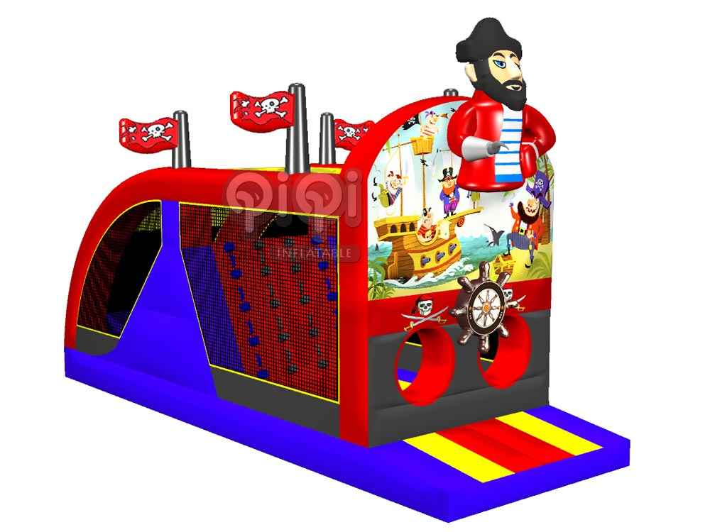 Pirate Inflatable kids Obstacle Course-QOB-3543-1