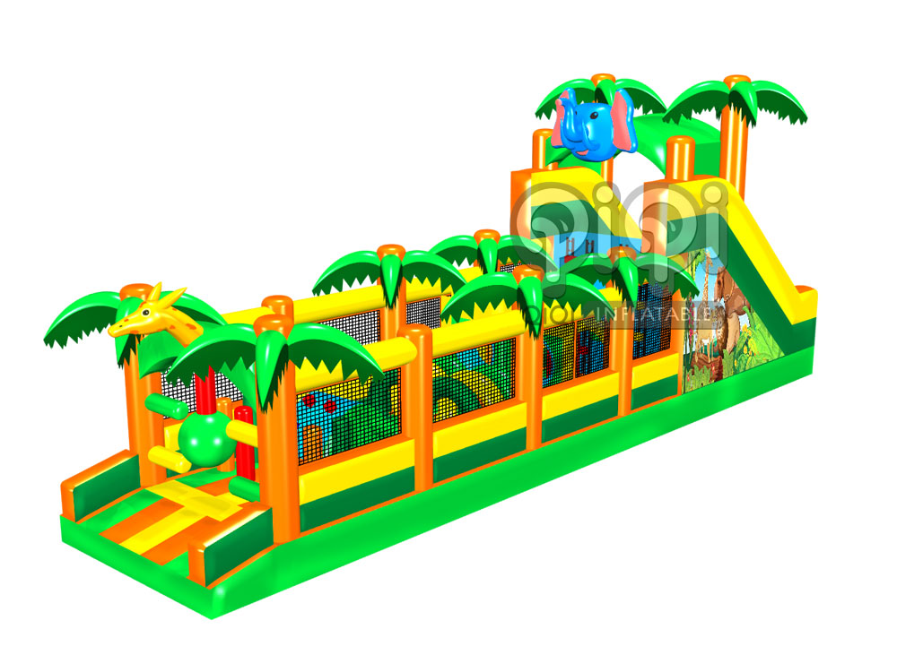Inflatable Palm tree Obstacle Course-QOB-3605-1