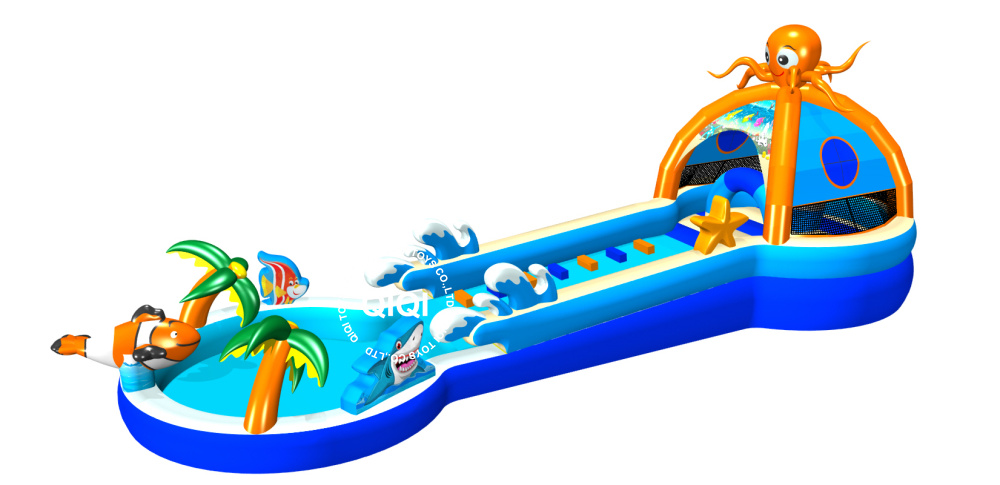 Seaworld Playzone Octopus slide with a pool