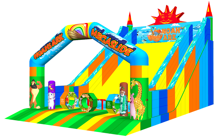 Noah's Ark castle inflatable slide