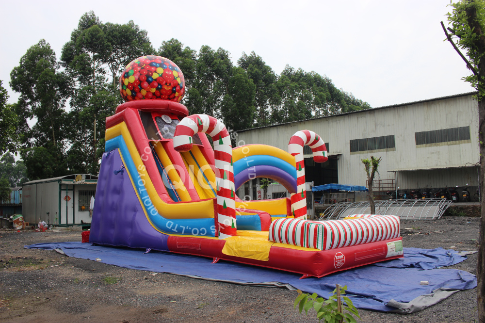 Candy inflatable water slide
