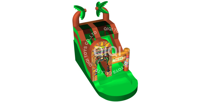 jungle inflatable slide with pool