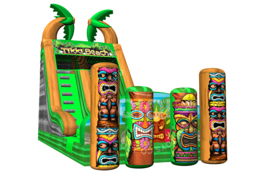 Tiki tribe theme water slide